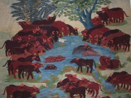 Water Buffalos, detail
