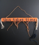 "Ruth Manning; ""this takes time""; 1""x13"";10 epi; 2013; wool and cotton; Ruth Manning, photographer"