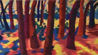 "Joan Griffin, ""Shadows in the Forest"" (2015), 59"" x 33"""