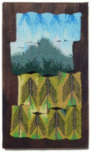 "Terry Olson, ""Mt. Douglas,"" 12"" x 7,"" wool and cotton"