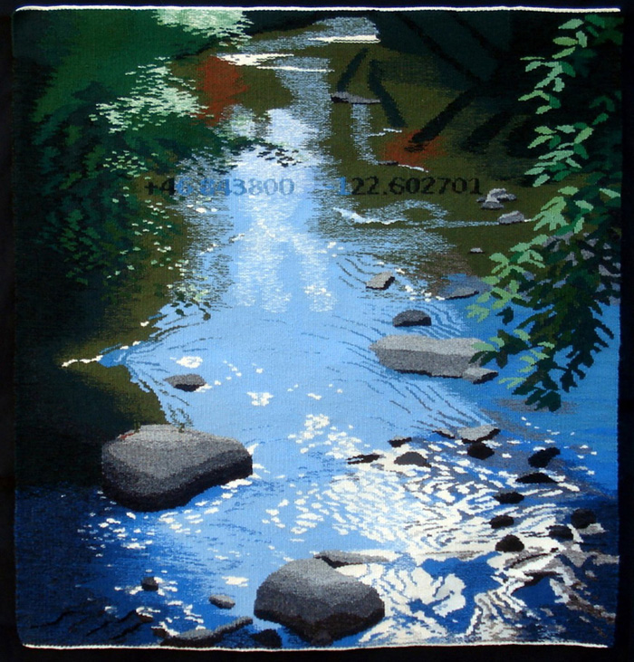 """Little Deschutes"" (2013), 38"" x 35"""
