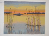"""Inge Norgaard, """"The Hem of the Sky: The Delta"""" (second of a triptych), 2010, 34"""" x 44"""""""