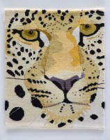 "Care Standley, ""Big Cat"" (2013), 12in x 10in"