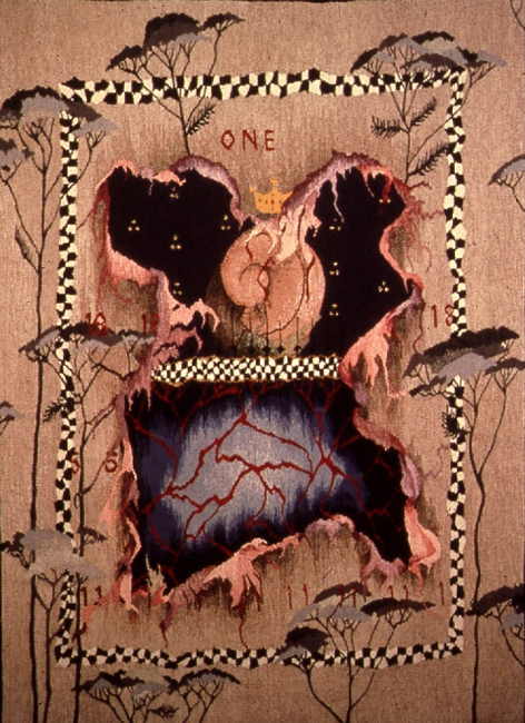 "Linda Wallace, ""For the Tears of Queen Anne"" 1996, 47"" x 32"""