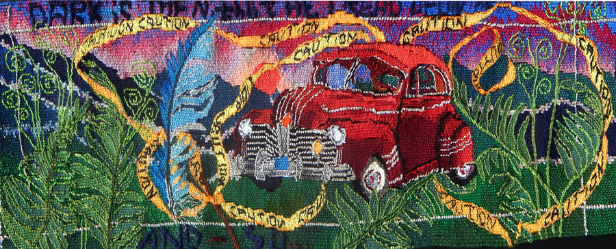"Kathe Todd-Hooker, ""And So, it began-Gramma's coupe"" (2017), 12"" x 5""; $2200"