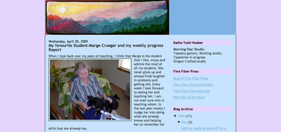Kathe Todd-Hooker's weblog April 29, 2009