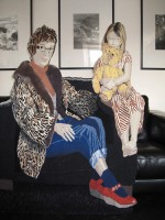 "Elizabeth Radcliffe, ""Nieves, Bonnie and Teddy"" 2011, 50"" x 40"""