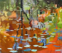 "Becky Powell, ""Bog Road Reflections"" (2012), 28"" x 34"""