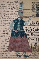 "Tricia Goldberg, ""Postcard for Angela"" 2011, 60"" x 30"""