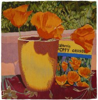 "Tricia Goldberg, ""California Poppies"" 2008, 34"" x 32"""