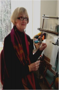 Linda Wallace in her studio