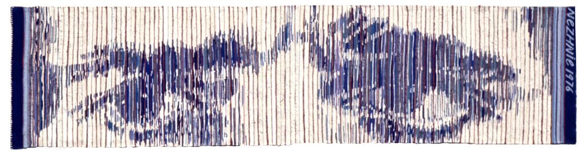 "Muriel Nezhnie, ""Nader"" 39"" x 188,"" 1976. Woven tapestry. Private Collection, St. Louis MO Photo courtesy of Sheldon Helfman"