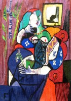 "Carolyn Furnish, ""St. Lucia de Picasso"" (2012) 22"" x 31"""
