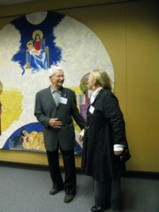 Jim Brown and Pam Patrie at Mt. Angel Abbey, 2011