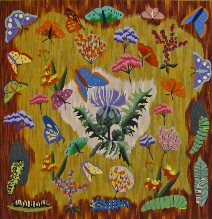 """A Butterfly Garden, An Homage to Dom Robert"" (2014), 40"" x 40"""