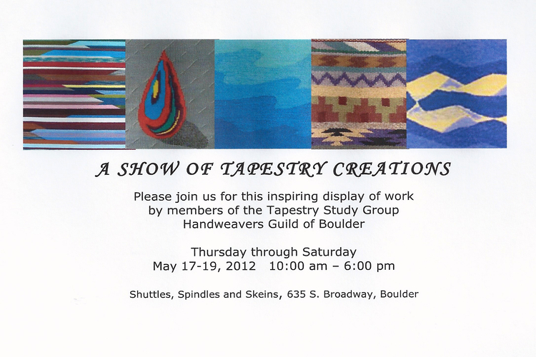 Taspestry Study Group Show Announcement