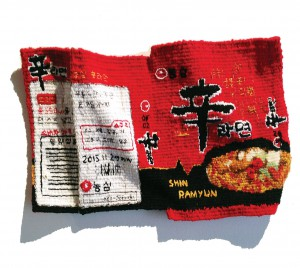 "Danbee Son, ""The Objet - Shin Ramyun,"" 27 x 35 cm, 2015. Thread. Photo: Danbee Son."