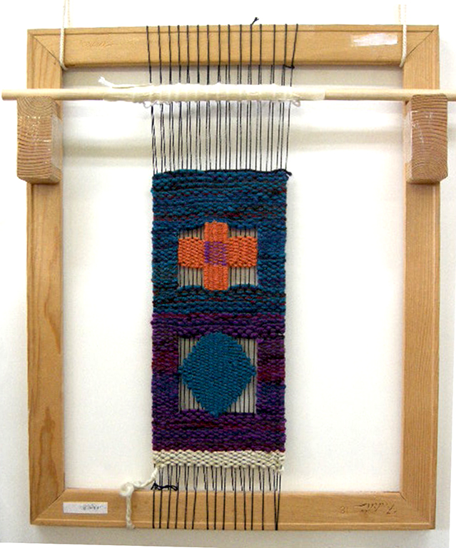 "3rd Grade Loom and Shapes"", 22""h X 18""w, 6 epi, photo: Lynda Brothers"