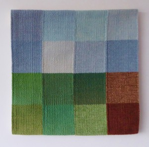 Catherine Gray, 'Allotted Time 4', 40 x 40 cm, 2016. Cotton warp, wool weft. Photo: Catherine Gray.