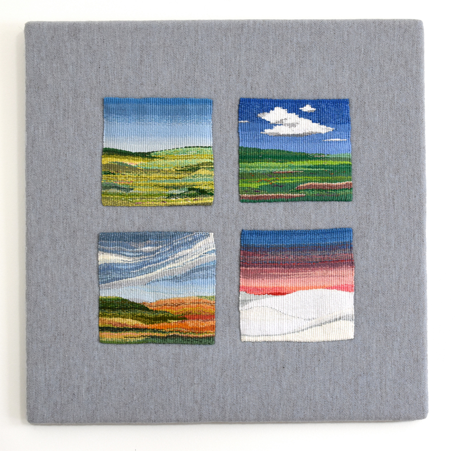 "Elizabeth Vezeau, ""Seasons of the Mind"" (2015), 6.75"" x 6.75"" on 24"" x 24"" frame"