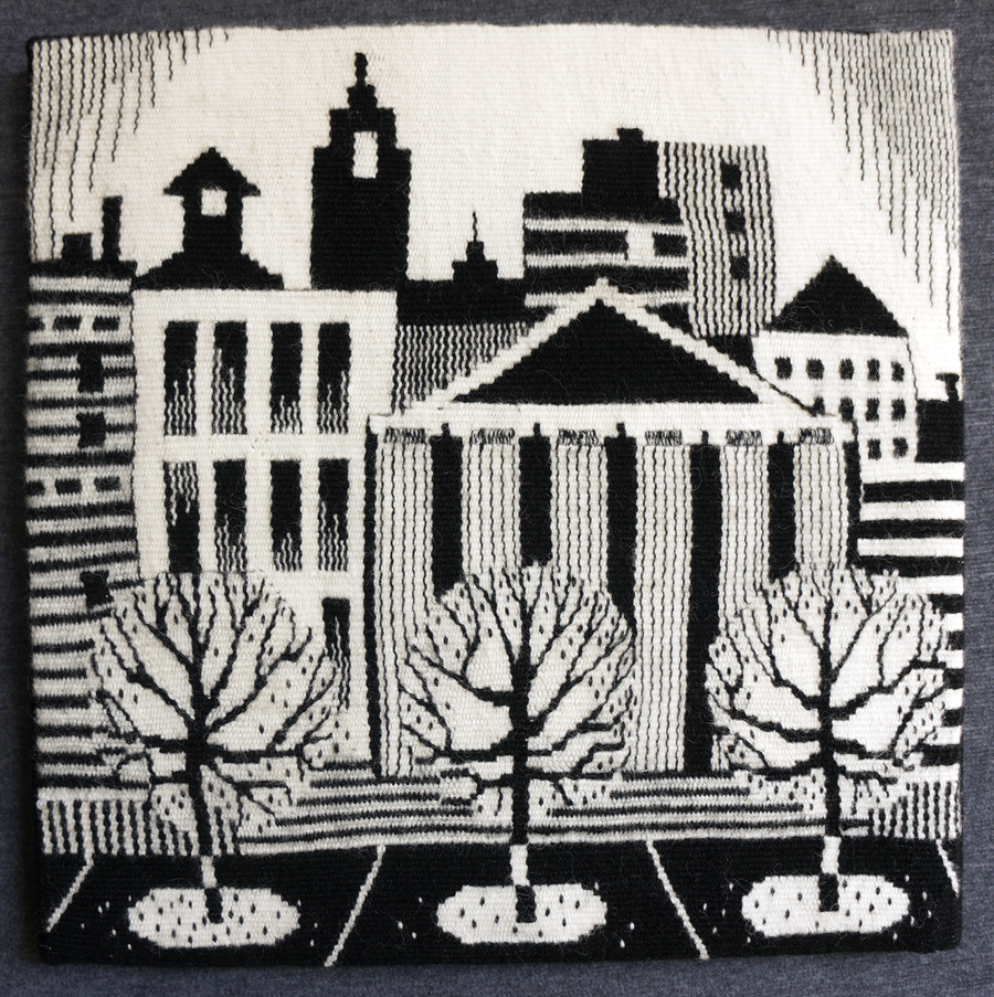 "Becky Stevens, ""Autumn In The City"" 2017, 15"" x 15""; $550"