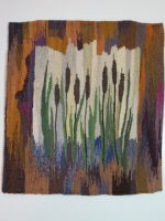 "Mary M. Flad, ""Cat-tails"" 2018, 20"" x 20""; $800"