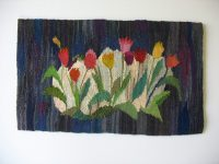 "Mary M. Flad, ""Midnight Tulips"" 2017, 13"" x 22""; $500"