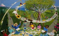 "Cecilia Blomberg, ""McMicken Heights Elementary Tapestry"" (2012), 60"" x 96""; $21,000"